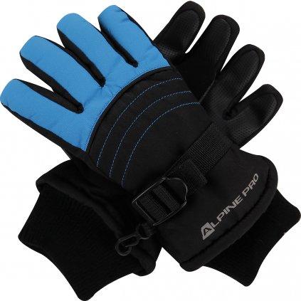 Dětské zimní rukavice ALPINE PRO Korio černá/modrá