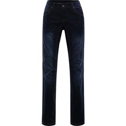 Dámské jeansové kalhoty ALPINE PRO Chizoba tmavá denim