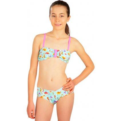 Dívčí plavky podprsenka LITEX Bandeau tyrkysová