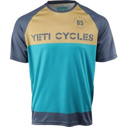Pánský cyklo dres YETI Longhorn tyrkys/earth