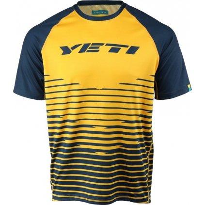 Pánský cyklo dres YETI Longhorn gold/navy