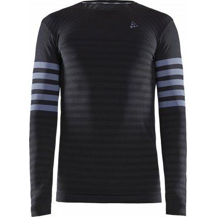 Pánské funkční tričko CRAFT Fuseknit Comfort Blocked Ls černá