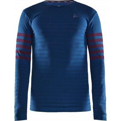 Pánské termo tričko CRAFT Fuseknit Comfort Blocked Ls tmavě modrá