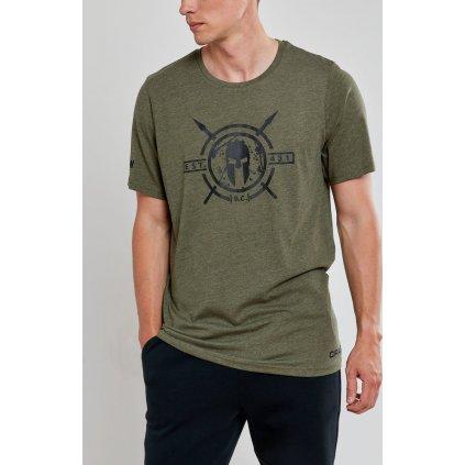 Pánské funkční tričko CRAFT Spartan Ss Casual tmavě zelená