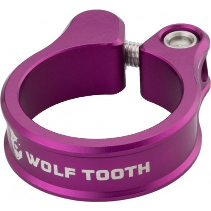 Sedlová objímka WOLF TOOTH 34.9mm fialová