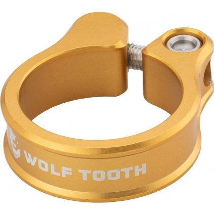 Sedlová objímka WOLF TOOTH 34.9mm zlatá