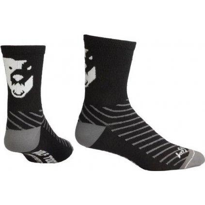 Cyklistické merino ponožky WOLF TOOTH černá