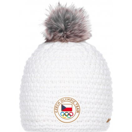 Zimní olympijská čepice ALPINE PRO Chibi bílá