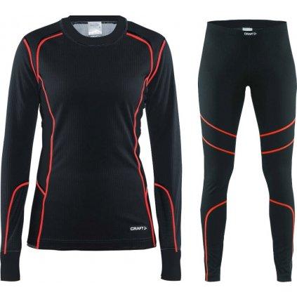 Dámský set termo prádla CRAFT Baselayer černá/růžová