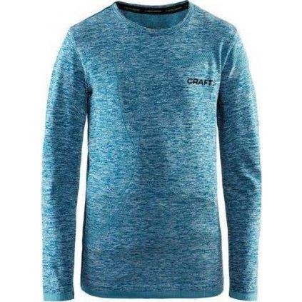 Dětské funkční tričko CRAFT Active Comfort Ls Junior modrá
