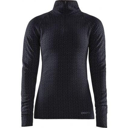 Dámské termo tričko CRAFT Merino 240 Zip Ls černá