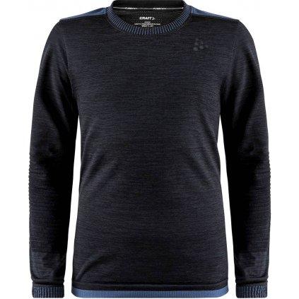 Dětské termo tričko CRAFT Fuseknit Comfort Junior černá