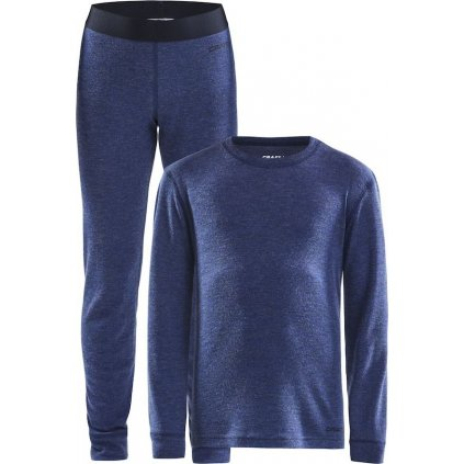 Dětský termo set CRAFT Merino 180 Junior tmavě modrá