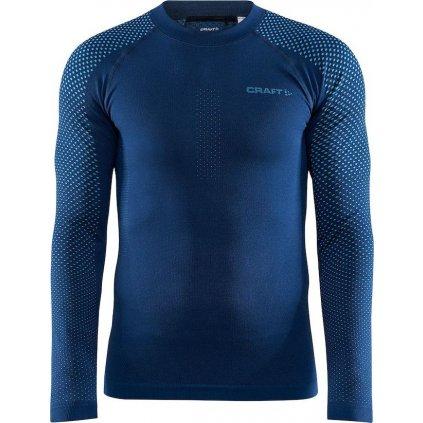 Pánské termo tričko CRAFT Adv Warm Fuseknit Intensity tmavě modrá