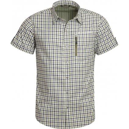Pánská rychleschnoucí košile ALPINE PRO Lurin 4 zelená