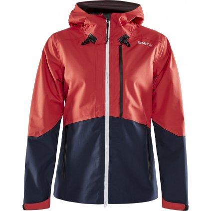 Lehká dámská bunda CRAFT Shell červená s tm.modrou