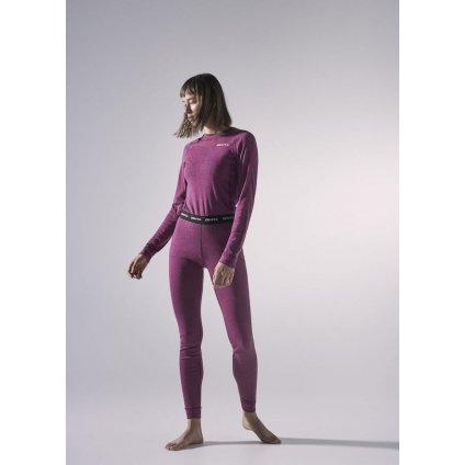 Dámský termo set CRAFT Core Wool Merino fialová