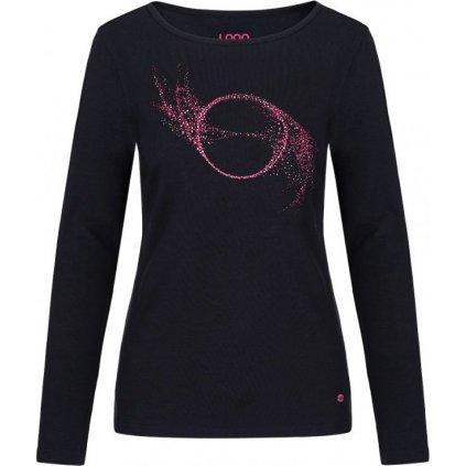 Dámské bavlněné triko LOAP Abbie černá
