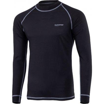 Pánské merino triko KLIMATEX Ment černá