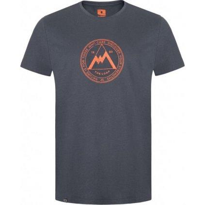Pánské bavlněné triko LOAP Beeps šedá