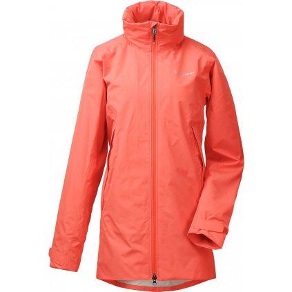 Dámský nepromokavý kabát DIDRIKSONS Noor oranžový