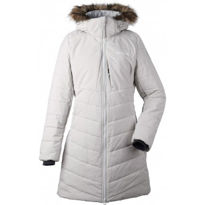 Dámský zateplený kabát DIDRIKSONS Natasha bílý
