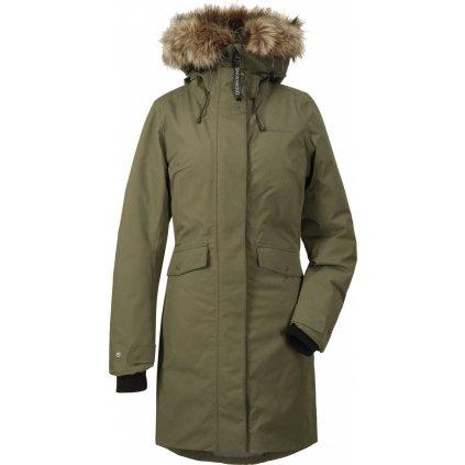 Dámský zateplený kabát DIDRIKSONS Erika zelený