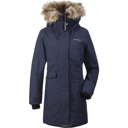 Dámský zateplený kabát DIDRIKSONS Erika modrý