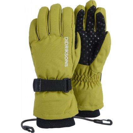 Dětské prstové rukavice DIDRIKSONS Biggles Five zelené