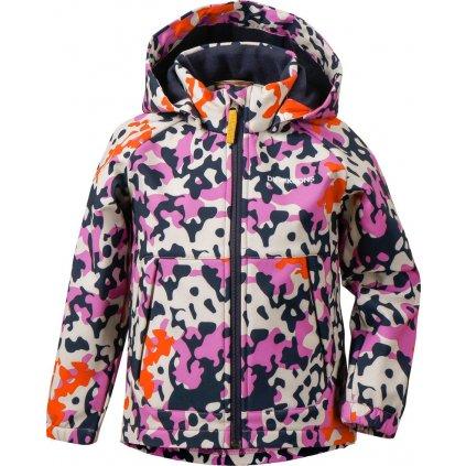 Dětská softshellová bunda DIDRIKSONS Dellen Printed fialová