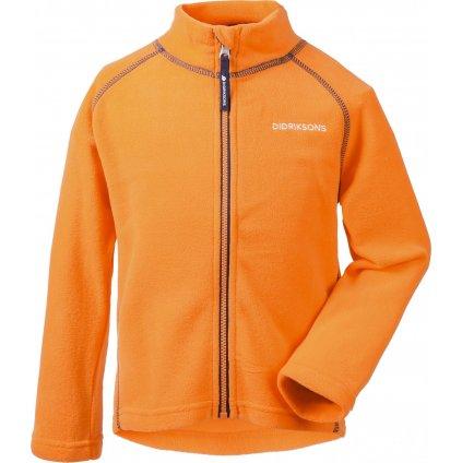 Dětská fleecová mikina DIDRIKSONS Monte oranžová