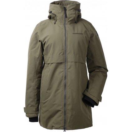 Dámský zateplený kabát DIDRIKSONS Helle zelený