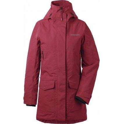 Dámský zateplený kabát DIDRIKSONS Frida červený