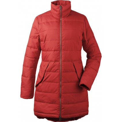 Dámský zateplený kabát DIDRIKSONS Hildur oranžový