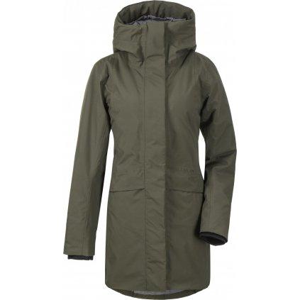 Dámský zateplený kabát DIDRIKSONS Cajsa zelený