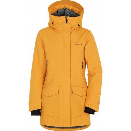 Dámský zateplený kabát DIDRIKSONS Frida žlutý
