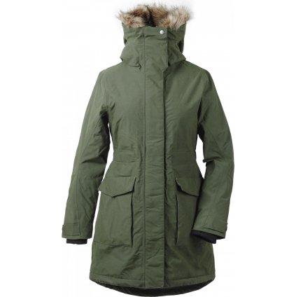 Dámský zimní kabát DIDRIKSONS Meja zelený