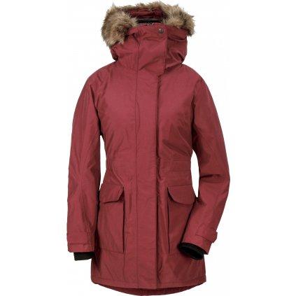 Dámský zimní kabát DIDRIKSONS Meja červený