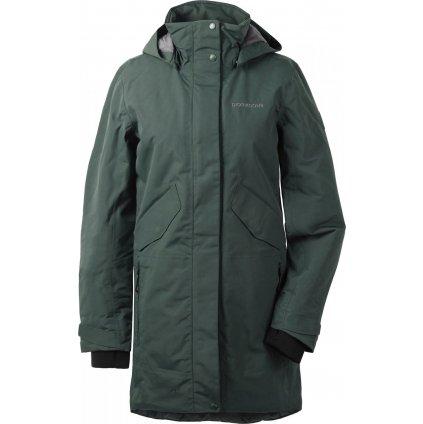 Dámský zateplený kabát DIDRIKSONS Tanja zelený