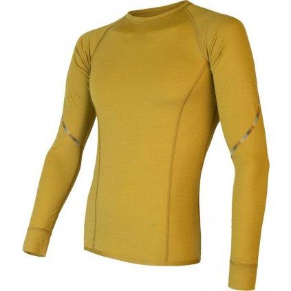 Pánské termo tričko SENSOR Merino Air mustard
