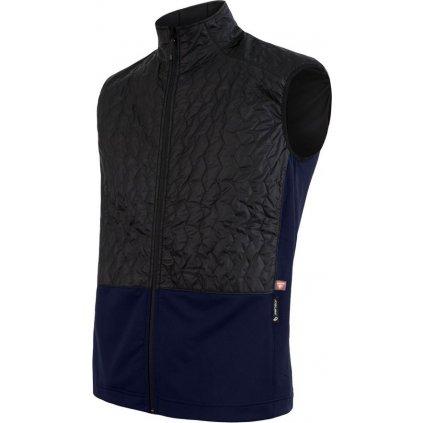 Pánská vesta SENSOR Infinity Zero černá/deep blue