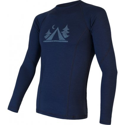 Pánské termo tričko SENSOR Merino Df Camp deep blue