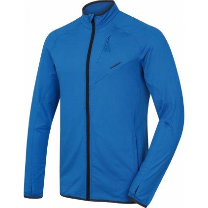 Pánská mikina na zip HUSKY Tarp zip M neonově modrá