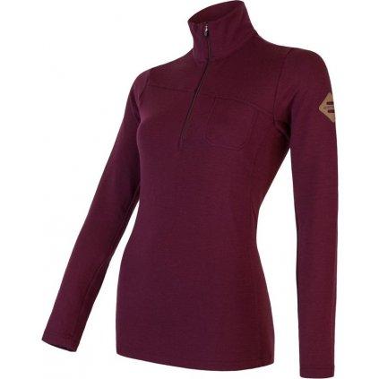 Dámské termo tričko SENSOR Merino Extreme red