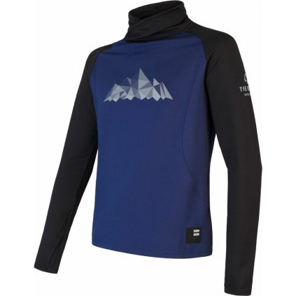 Pánská mikina SENSOR Coolmax Thermo Mountains deep blue/černá