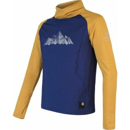 Pánská mikina SENSOR Coolmax Thermo Mountains deep blue/mustard
