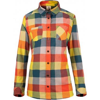 Dámská flanelová košile WOOX  Camisia Celery Chica