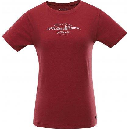 Dámské bavlněné triko ALPINE PRO Cedrika 2 červené