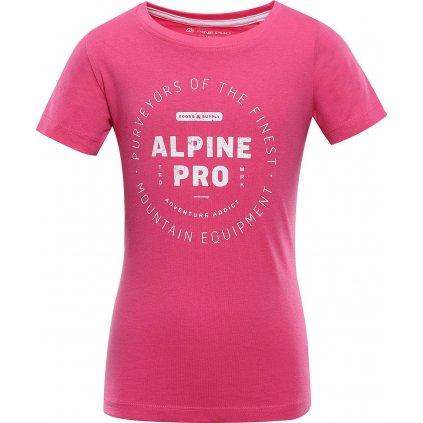 Dětské bavlněné triko ALPINE PRO Yvato růžové