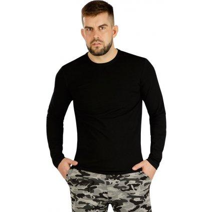 Pánské triko LITEX s dlouhým rukávem černé